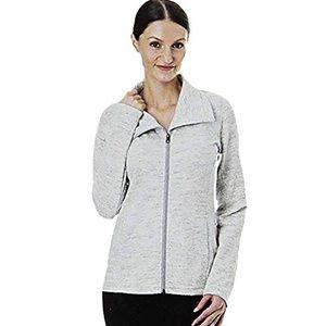 TUFF ATHLETICS Asymmetrical Zip Front Jacket